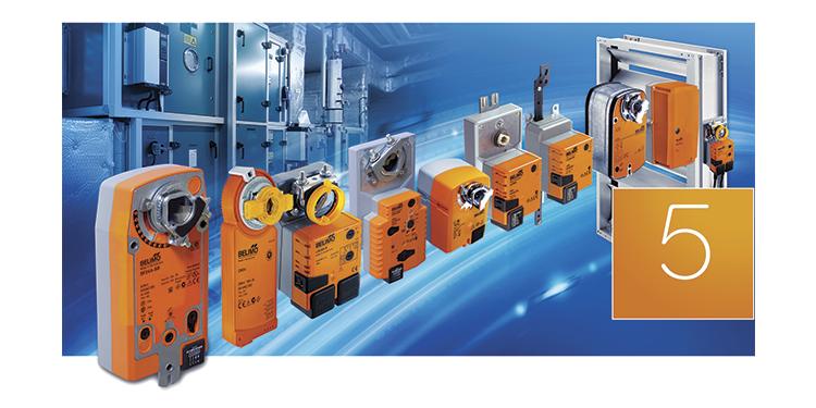 Belimos almindelige spjældmotorer til præcis indregulering af kold og varm luft.